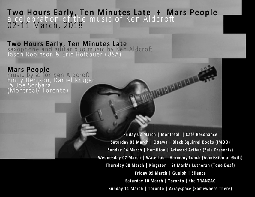 Two Hours Early, Ten Minutes Late + Mars People :: Tour :: March 2018